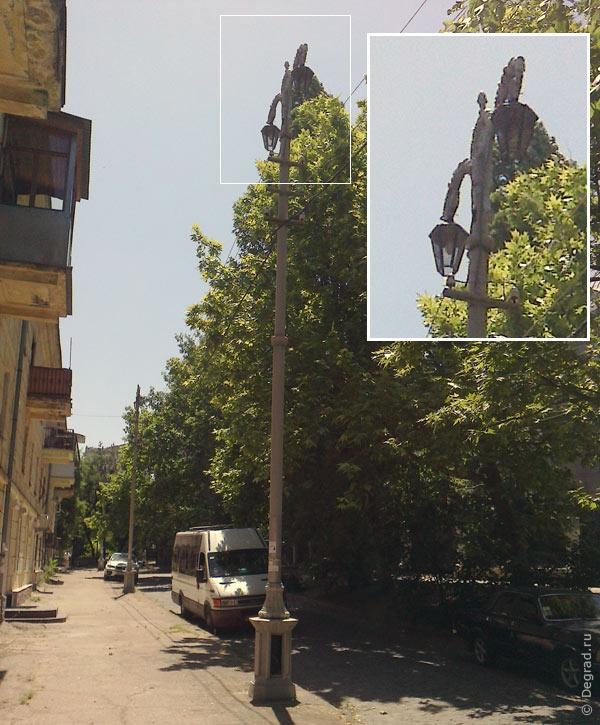 Фонари на ул. Суворова в Севастополе