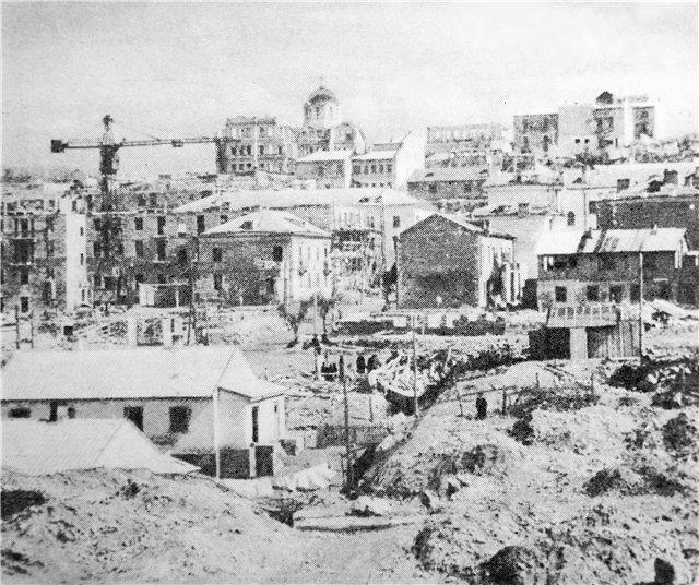 Восстановление Севастополя. Застройка Одесского оврага, 1951 г.