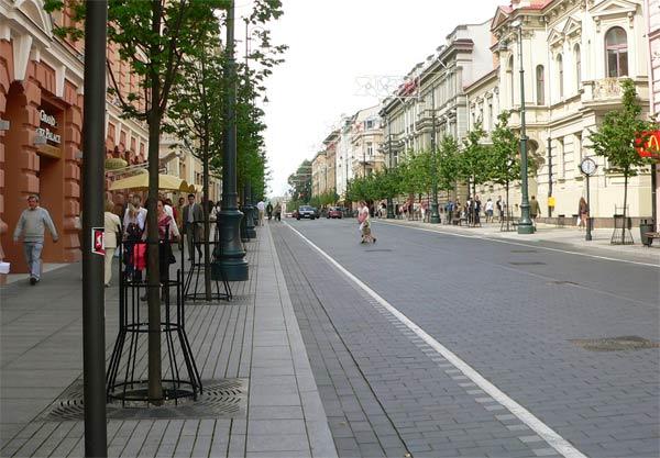 Клумба в Вильнюсе