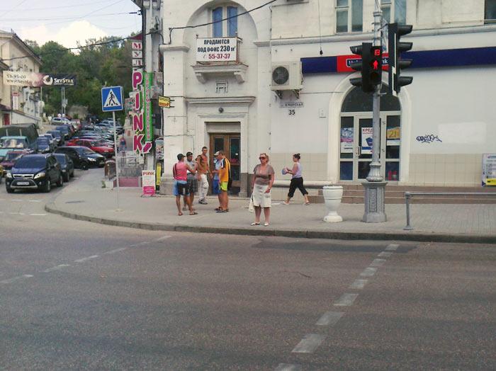 Пешеходный переход с бордюром