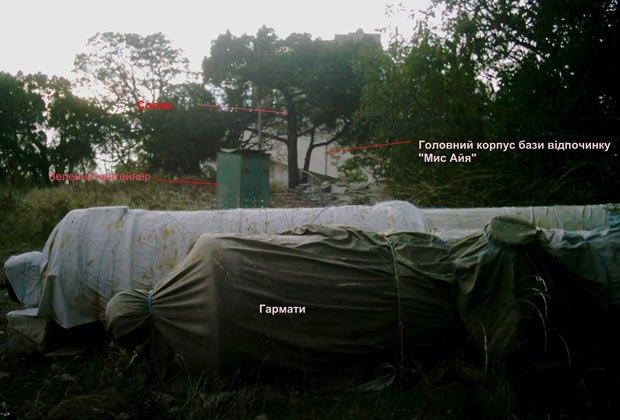 на базе отдыха «Мыс Айя» скрываются пушки, украденные с Артбухты