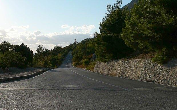 Дорога на базу «Мыс Айя»