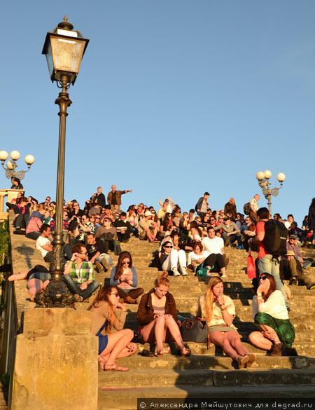 место отдыха людей во Флоренции