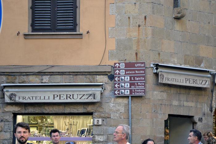 Уличные указатели Флоренции