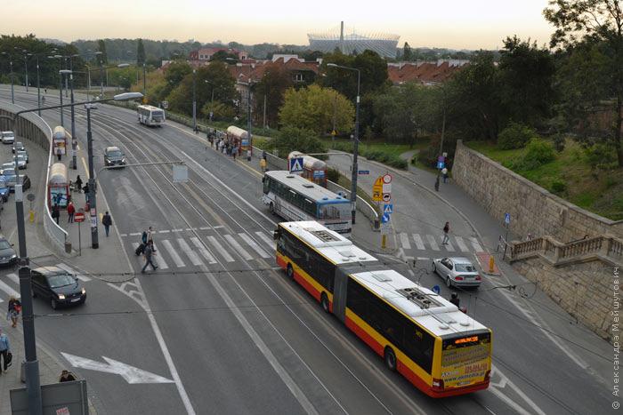 Варшава, автобусы.