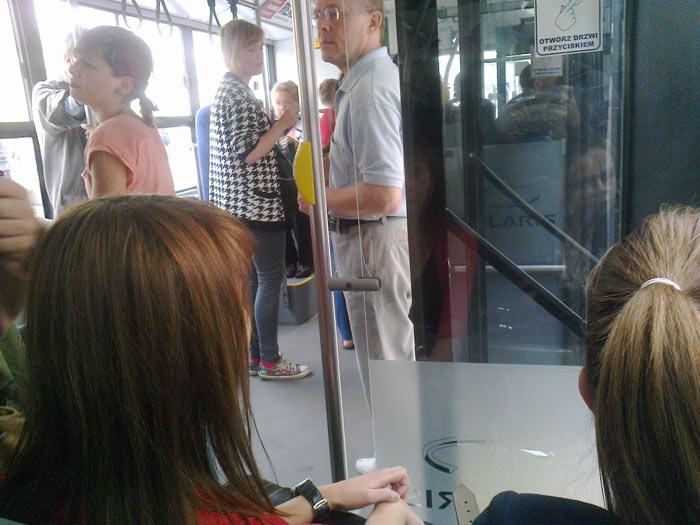 Автобус в Варшаве.
