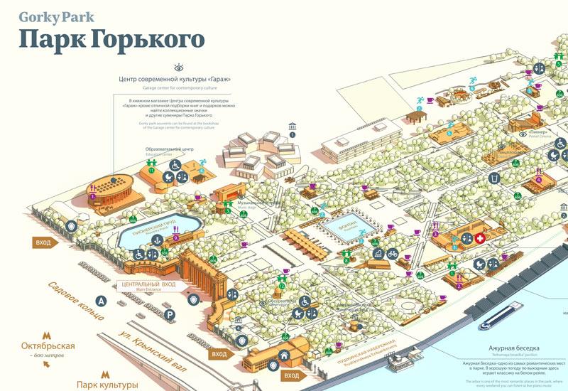 Парк горького (фрагмент схемы)
