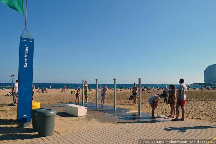 Пляжная инфраструктура Барселоны (12)